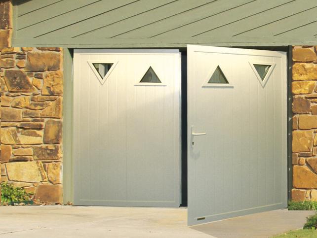 Porte de garage 2 vantaux pas cher for Porte de garage moss